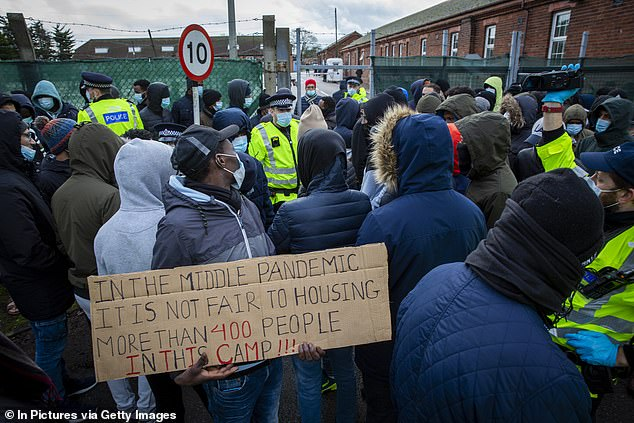 There have been reports of suicide attempts within the Ministry of Defence-owned army barracks, where asylum seekers have been held for months