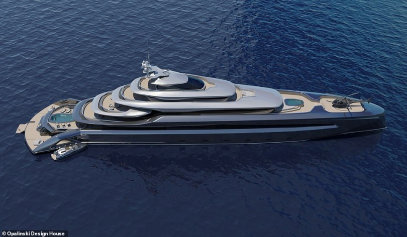 Opalinski Design House says: 'This yacht utilizes proven design template, at the same time pushing the boundaries of what is possible'