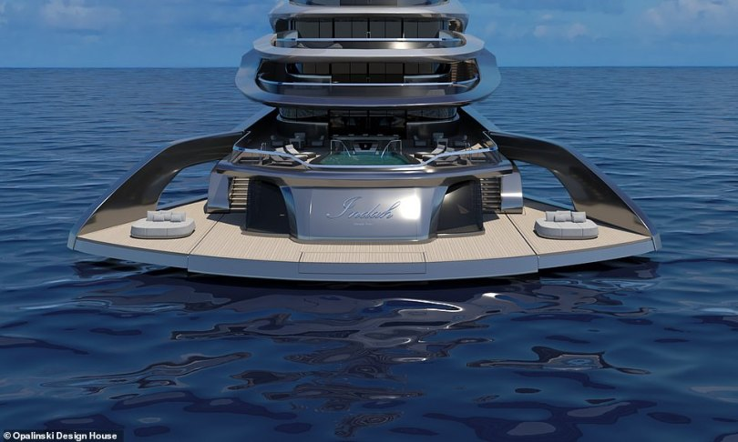 Indah measures 120 metres (393ft) – which would put her in the top 30 lengthiest superyachts in the world