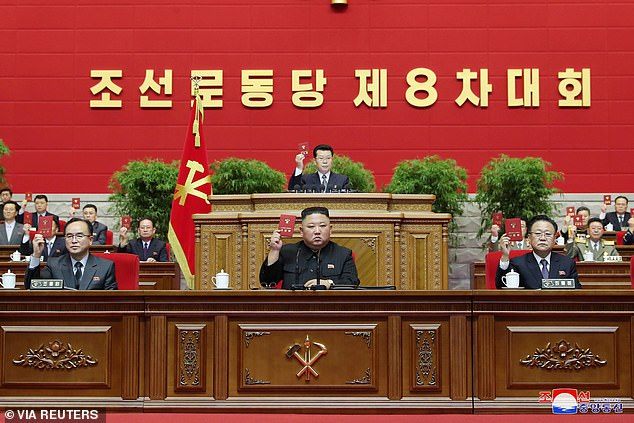 Kim told the party congress last week that his five-year economic plan had failed to meet its goals, blaming international sanctions as well as unanticipated crises including the coronavirus pandemic and natural disasters
