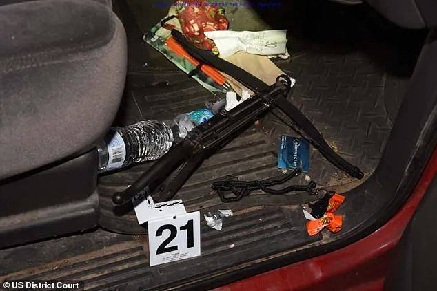 Other weapons were also uncovered in Coffman's red pick-up