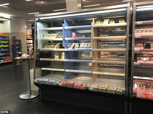 This Marks and Spencer store in Belfast, pictured yesterday, has suffered from stock issues