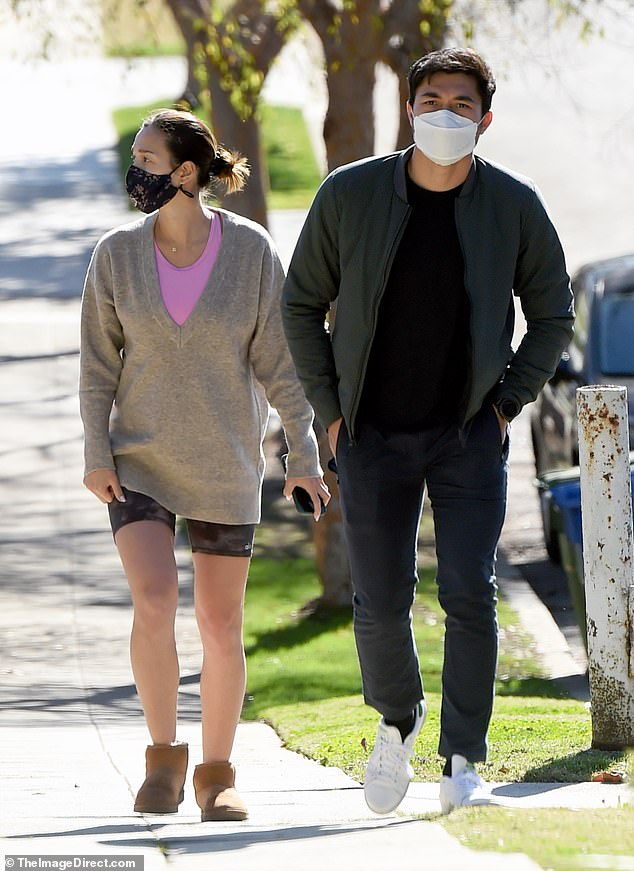 Outing: Crazy Rich Asians star Henry Golding and his wife Liv Lo were spotted running some errands in LA on Tuesday. The couple are expecting their first child together in 2021