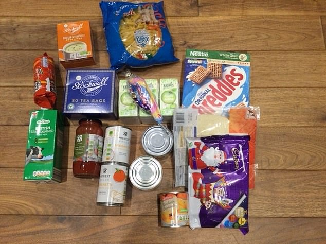 These items were sent out to parents in Medway, Kent, from a school to feed their children
