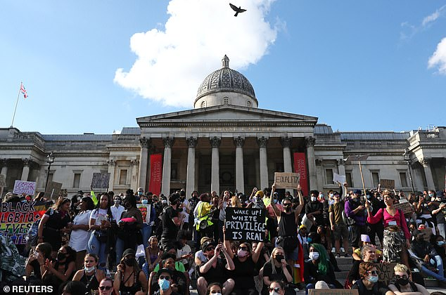 It comes after statues and their role in public life were thrown into the spotlight amid the global Black Lives Matter movement (pictured above: protests in London in June 2020)