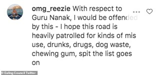 Some people claimed the road was an inappropriate choice for a rebrand, claiming Guru Nanak would be 'offended'
