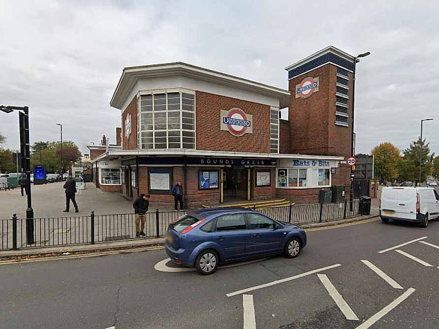 At around 11pm on October 4, 2018, Emmanuel Da Gama, 27, crept up behind a second woman while she walked along a deserted street near Bounds Green tube station (pictured) and told her: 'I'm going to kill you'