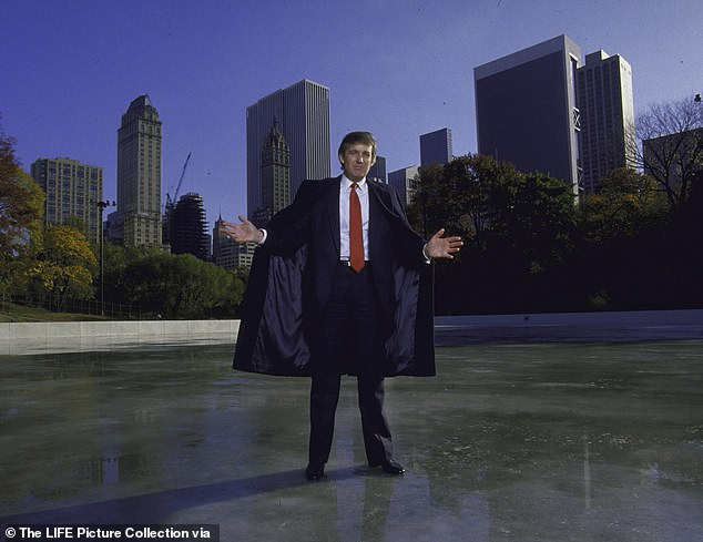 Real Estate Developer Donald J. Trump posing for a portrait at the Kate Wollman Memorial Rink which he oversaw renovations on. (Photo by Ted Thai/The LIFE Picture Collection via Getty Images)