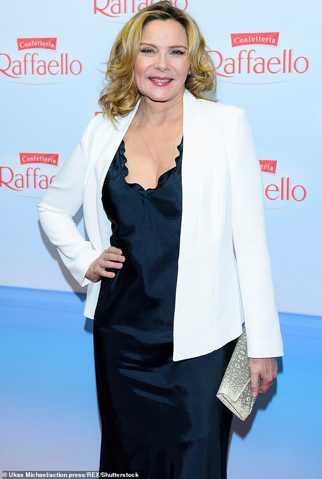 Keeping it classy: The previous day Kim Cattrall, 64, took a thinly-veiled swipe at her former Sex and the City castmates by 'liking' a fan tweet that applauded her for refusing to take part in the revival