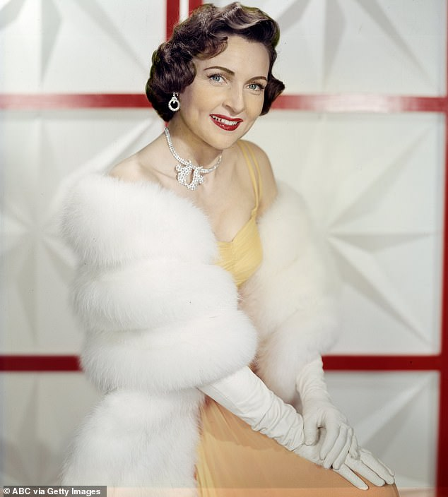 Looking fab:'I am blessed with good health so turning 99 is no different than turning 98,' she told People , noting the importance of 'A sense of humor'; pictured in 1957