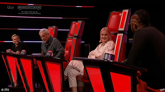 'You cant just isolate a voice!' The ITV programme follows the franchise's blind auditions format (Olly Murs, Sir Tom Jones, Anne-Marie and will.i.am pictured this month)