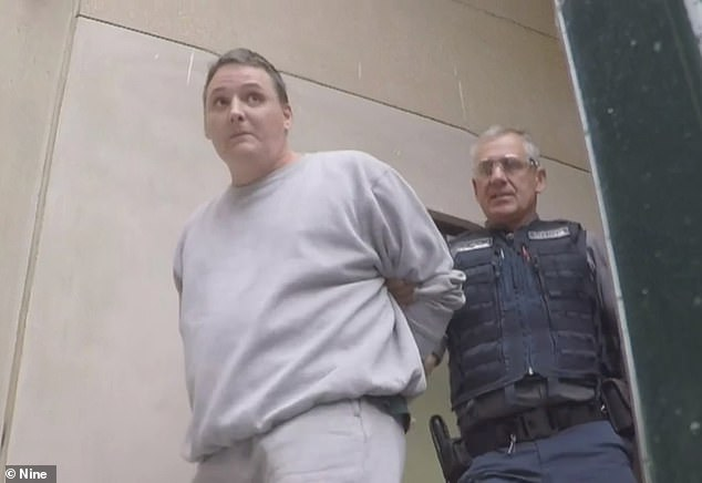 Jarrod Leonard Frank (pictured centre) has been charged with the murder of Scott Bury