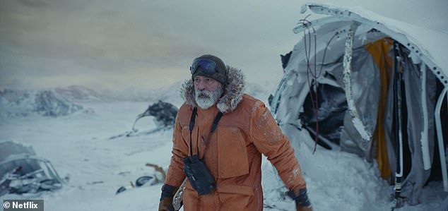 Double duty: For his role as Arctic scientist Augustine Lofthouse, the five-time Golden Globe winner shed 25lbs and shot scenes in 50mph winds during a blizzard in Iceland