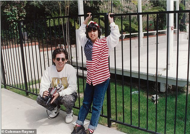 Daddy's girl: Recently Kourtney shared some throwback snaps throughout her childhood as she was seen with her late father