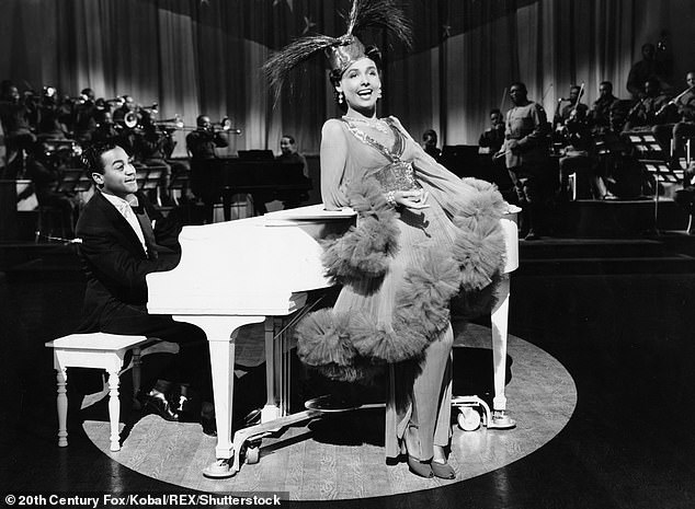 Starring role: Lena Horne is shown in a scene from the 1943 musical Stormy Weather