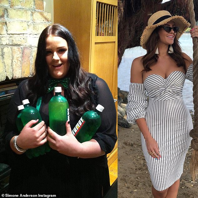 Several years after she lost the bulk of the weight, she said it has become a way of life to eat clean 80 per cent and work out daily