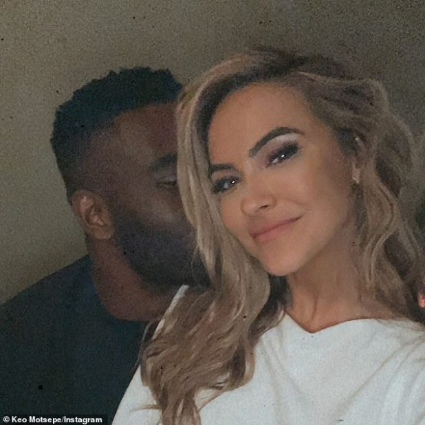 Moving on: Although the divorce has certainly been a difficult time for both of them, Chrishell and Justin have built relationships in the last few months;  Chrishell photographed with beau Keo Motsepe in December 2020