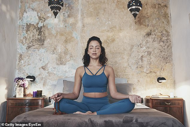 An Australian woman has asked social media users for help getting to sleep - some suggested she try yoga (stock image)
