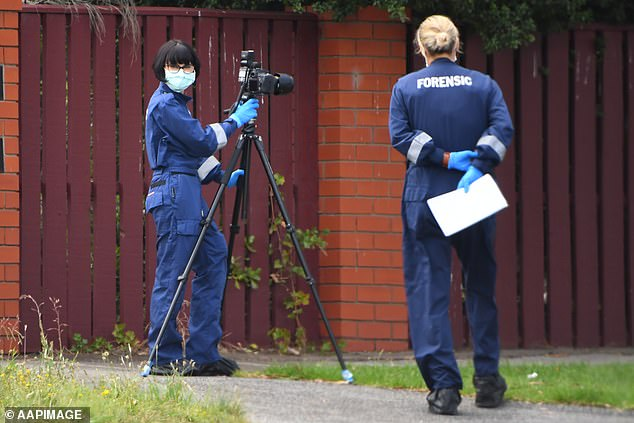 The bodies of two girls aged five and seven, a three-year-old boy and a 42-year-old woman were found at the property