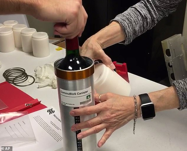 Another experiment saw a case of wine sent to the ISS to age in orbit over a year - it will be tasted in February and studied for changes in bubble content