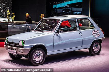 An early Renault 5 on display at the Paris Motor Show in 2019