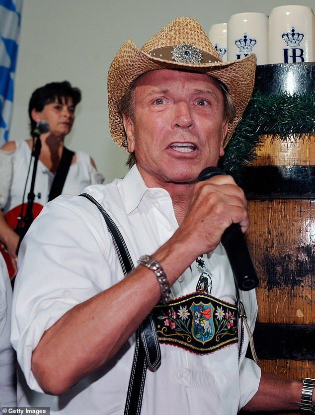 Fischbacher at the keg-tapping celebration at the kickoff of Hofbrauhaus Las Vegas' 8th Annual Oktoberfest in 2011