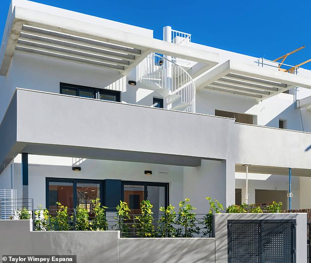 Also on offer is a private three-bedroom development in Alicante, which is currently priced at £169,846.35