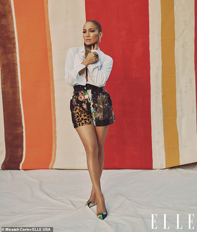 Legs get going! JLo put her fabulous body on display in an arty pair of shorts