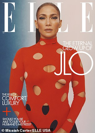 Cover girl: Lopez graces two different covers of the February 2021 issue of Elle
