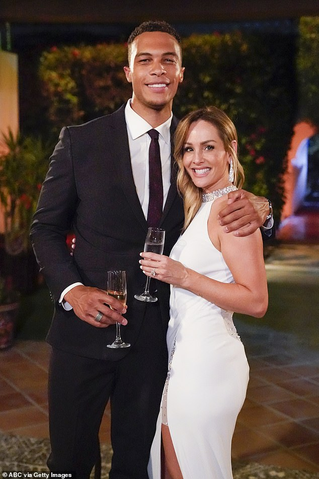 Here for the right reasons:Dale Moss revealed that he only joined the cast on the reality show after seeing now-fiancee Clare Crawley announced as The Bachelorette on Good Morning America