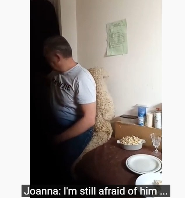 Police are 'urgently' looking to speak to Petras Zalynas, 50, (pictured) who Joanna says she is 'scared of' in the video