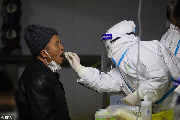 The northern region of Hebei Province surrounding Beijing has become China's new COVID-19 epicentre in recent weeks as a fresh wave of infections has rocked the country that had largely contained the outbreak. A man is seen in file photo being tested in Shijiazhuang on Tuesday