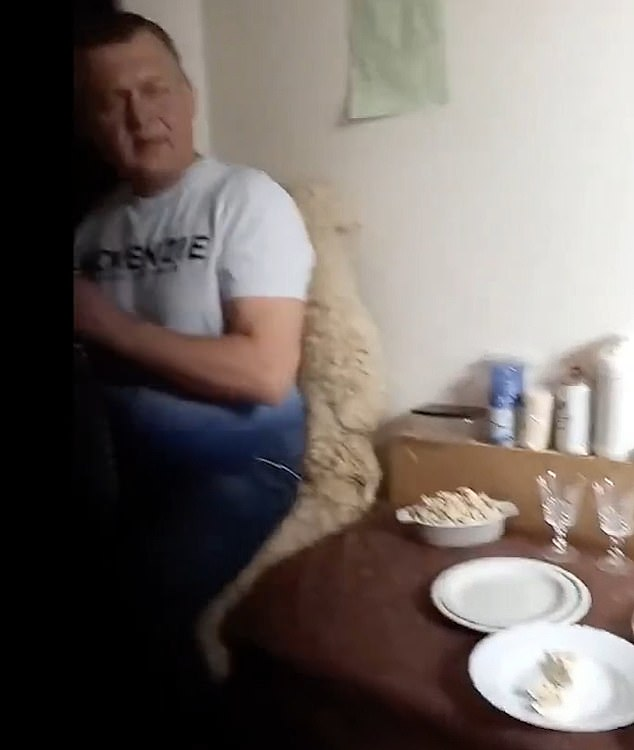 In the video Zalynas waves at the kitchen and the man behind the camera says: 'She is a bit scared, when you waved a little'