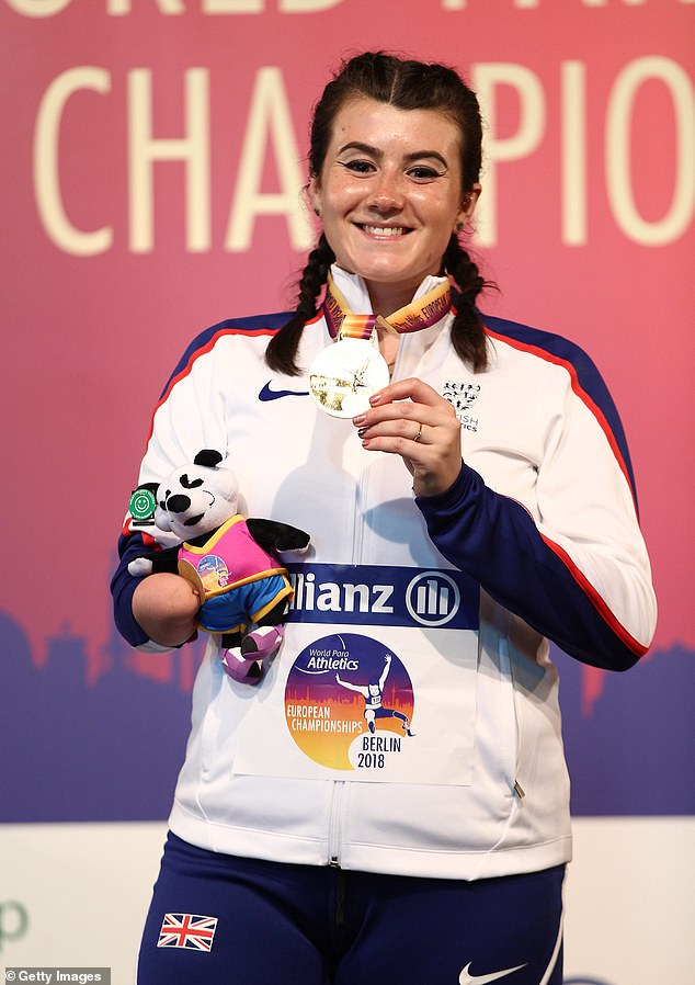 She added: 'I want to go out there and defend my Paralympic champion status. And I would like to take the world record out of reach… That's been my dream'