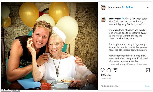 Tributes: Eve's grandchildren and great grandchildren shared personal snaps with her as they celebrated her life on Monday