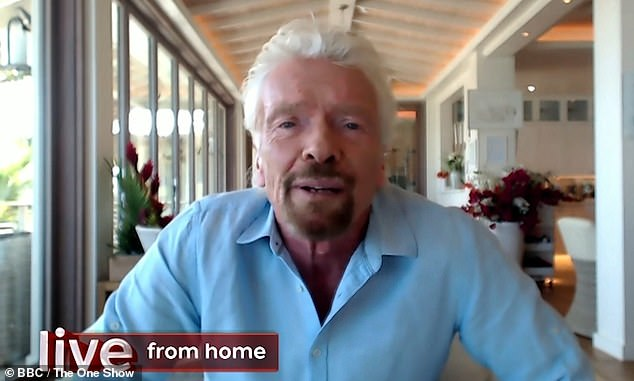 'She was extraordinary': Richard Branson has paid touching tribute to his beloved late mother Eve after her death at 96 during an appearance on The One Show on Thursday