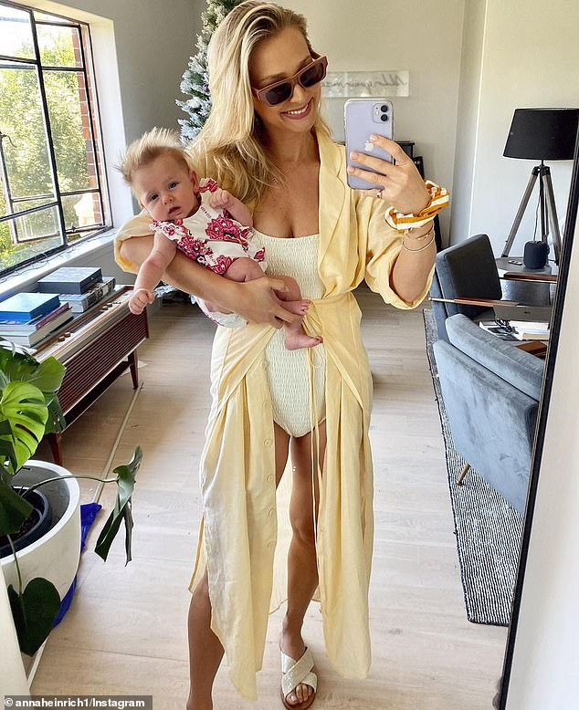 New addition: She welcomed her newborn daughter Elle with husband Tim Robards in November