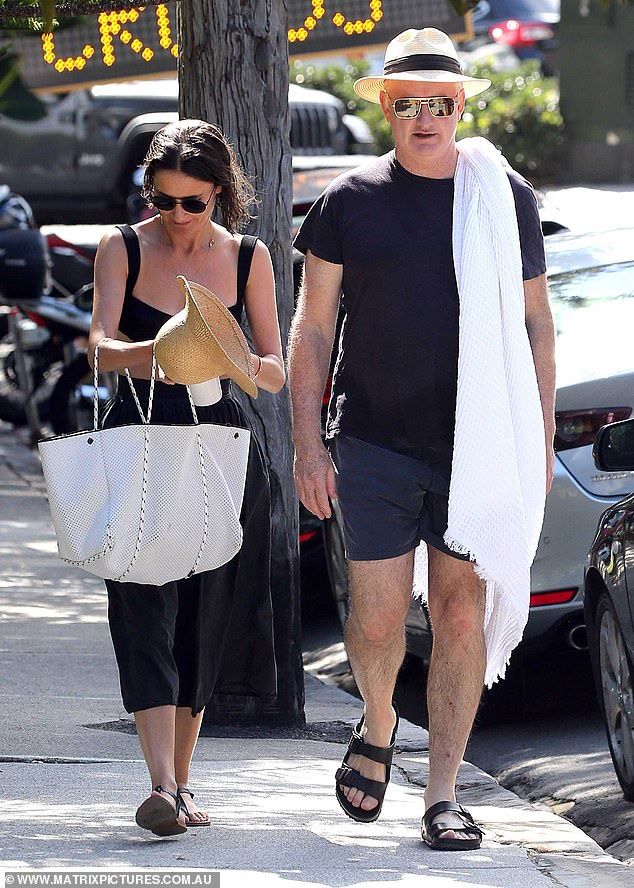 Mr Marks said the pair's relationship began as they worked closer together, and Ms Baker resigned in October so they could 'progress' as a couple (pictured in Sydney on Thursday)