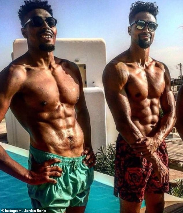 'He saved my life at both ends of the scale': Jordan Banjo has revealed his older brother Ashley helped him through his weight struggles (pictured in 2016)