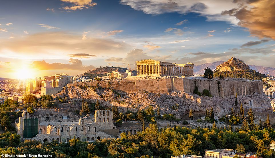 50. ATHENS: This ancient city is 'camera-ready at every turnwith its crumbling ruins, world-class museums and endless winding streets', says Big 7 Travel. It adds: 'As one of the world's most sought-after tourist destinations, it should come as no surprise that Athens is mega-Instagrammable'