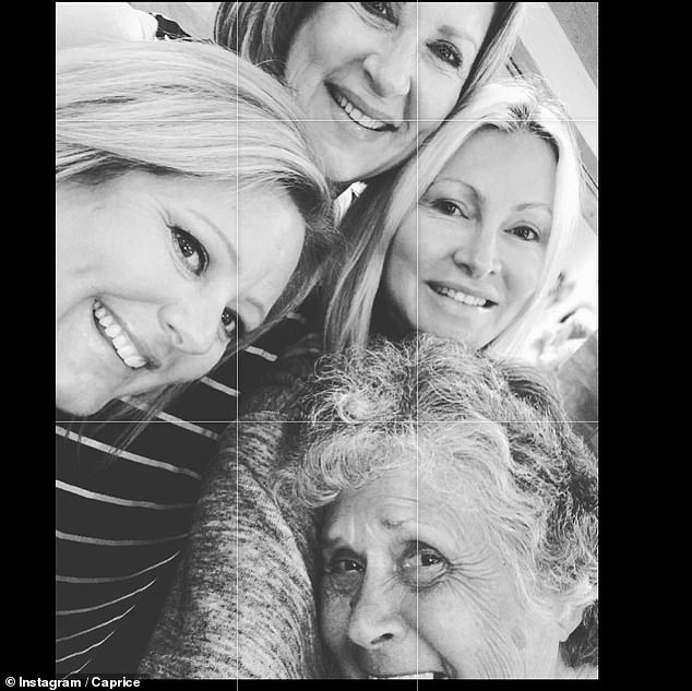 Grief: The star said that the loss of her loved on was 'devastating' and she's feeling 'numb' as she processes the news (pictured with her family)