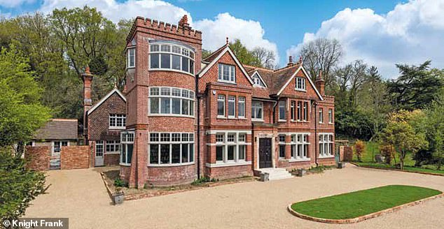 Nice digs: The Australian star, 54, is 'building her very own Tate Modern in the grounds of her English country manor Highwell House' in Crowborough, East Sussex, The Sydney Morning Heral d claimed on Friday. The mansion is pictured