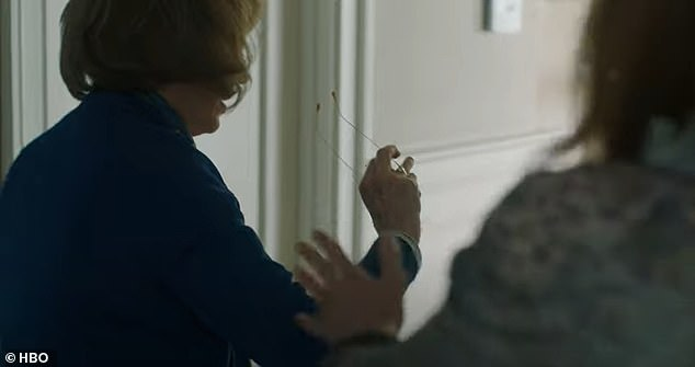 Oh no! In one heated scene, Nicole's character, Celeste, slaps Meryl's character, Mary Louise, across the face - but Nicole's aim was a little off, and she wound up slapping the glasses right off Meryl's face by accident. Pictured in Big Little Lies