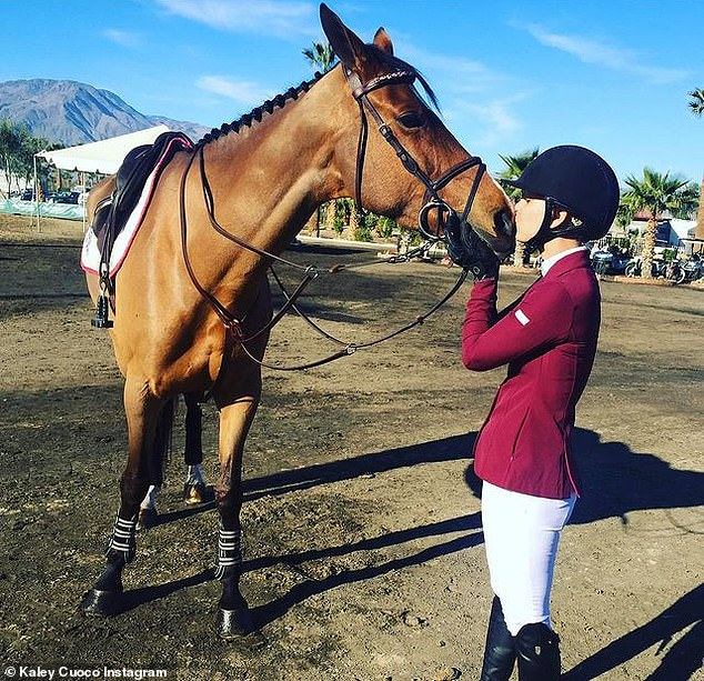 Sending her off: Kaley announced Friday that she would be retiring her racehorse Bionetty and wrote a lengthy message to give her followers insight into their relationship