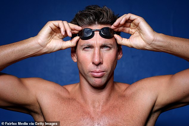 Giving his opinion: Grant Hackett (pictured), 40, has weighed in on Cody Simpson's training to get to the 2024 Paris Olympics, saying he needs to make the biggest gains in the next 12 to 18 months, but he does have thing 'going for him' in the pool