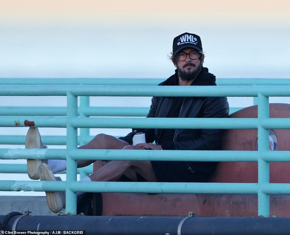 Fired Hillsong pastor Carl Lentz spotted watching sunrise on Manhattan Beach