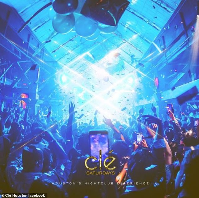 Open for business: In an October executive order Texas Governor Abbott said that venues were allowed to host indoor events up to 75 percent capacity, though the owners of Cle came under fire for a Lil Baby concert at their sister club in late November
