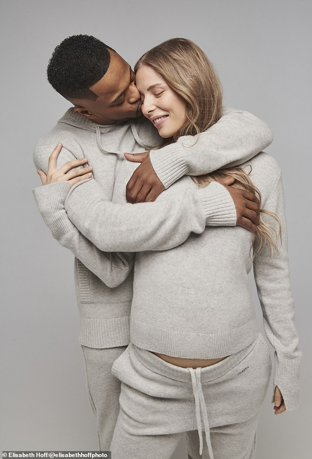 Bundle of joy: The Manchester United legend, 39, and his stunning Danish partner have revealed that they're set to welcome their bundle of joy into the world in April