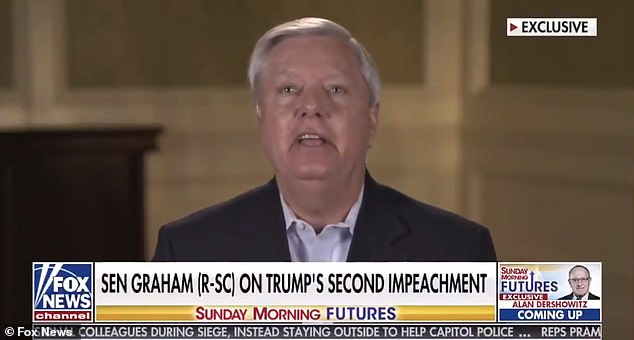 'How in the hell could that happen?' he asked of the breach. 'Where was Nancy Pelosi? It's her job to provide Capitol security. We'll get to the bottom of that'