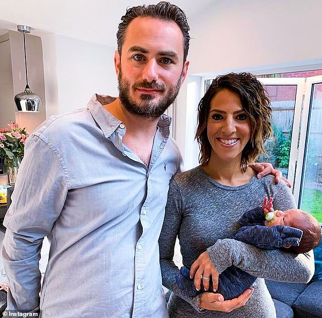 Gemma Isaacs (pictured with husband Daryll and newborn baby Jack) was told by doctors that her ovaries were 'dead' at aged 31 following cancer battle but she has since given birth to her second child after going vegan
